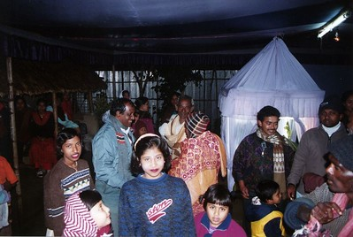 Hindu weddings are colourful and quite interesting to some-one like me who has only been exposed to Western wedding traditions. For a start, the wedding ceremonies go on for days (in Bangladesh, anyway). The bride is also obliged to fast for much of the day, to demonstrate how love-sick she is! Her head bridesmaid is obliged to give her moral support and encouragement during this difficult time.